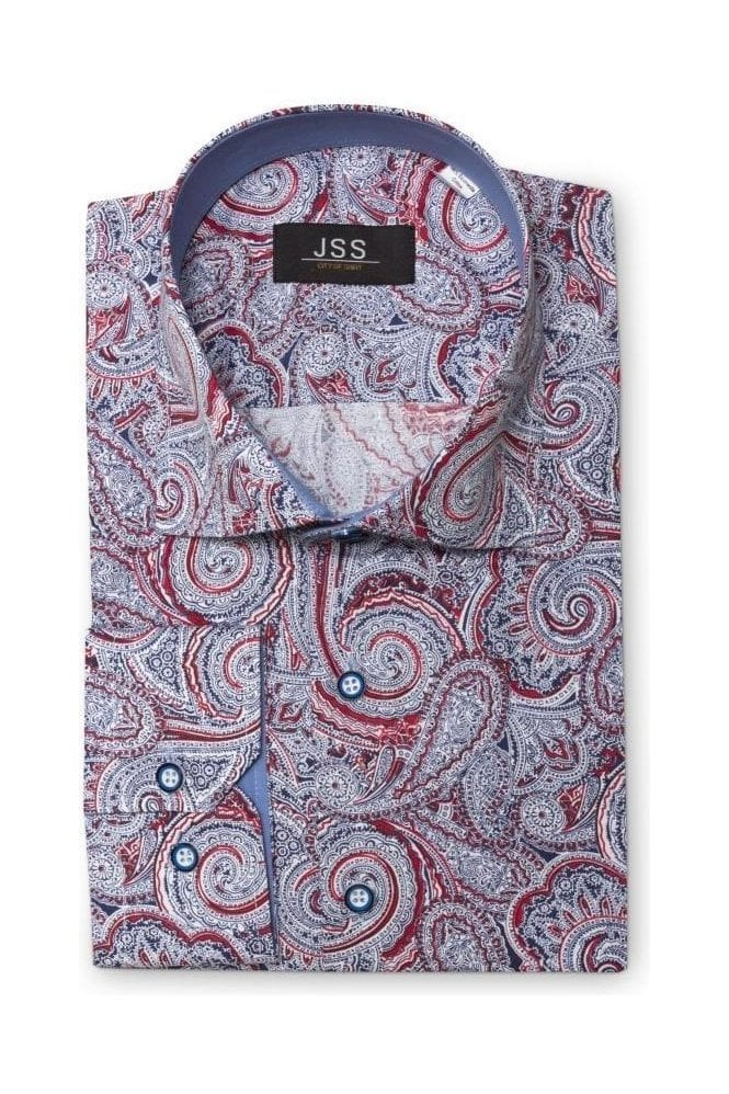 Mens-Premium-Retro-Floral-Full-Paisley-Dress-Shirt-Tailored-Vintage-MOD-S-4XL