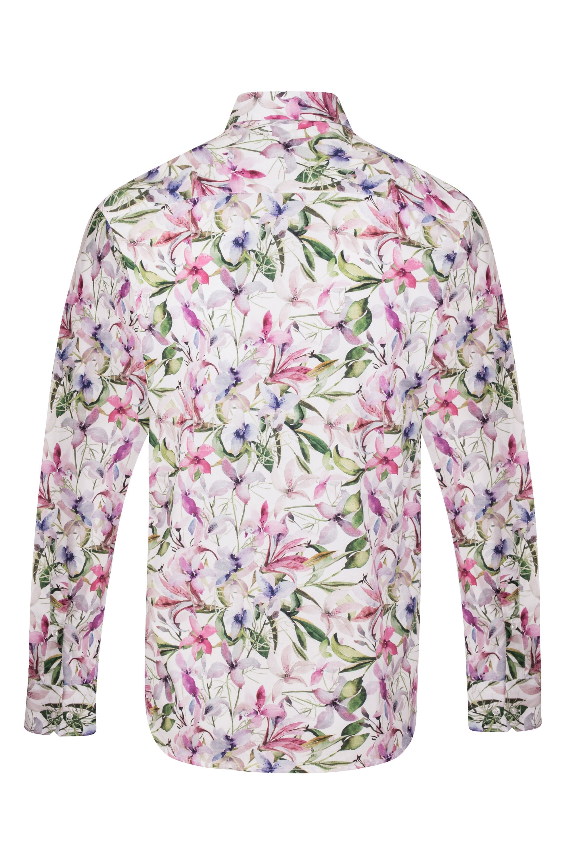 Mens Floral Patterned Floral Paisley Regular Fit 100/% Cotton Shirts S-4XL