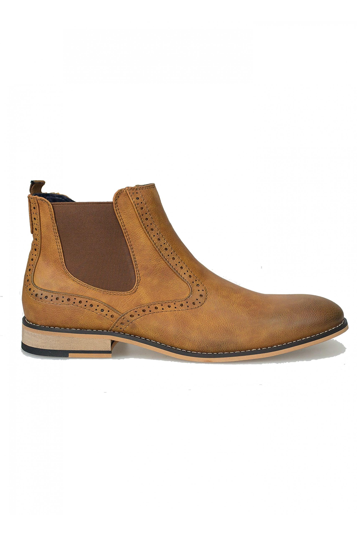 photos officielles 74a86 17386 Cavani Cavani Fox Chelsea Boots Leather Look Shoes