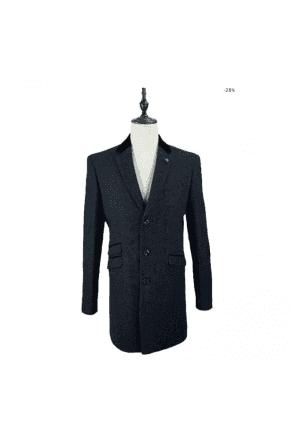 Cavani Kingston Tweed Navy Coat