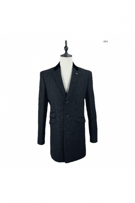 Cavani Kingston Tweed Navy Coat