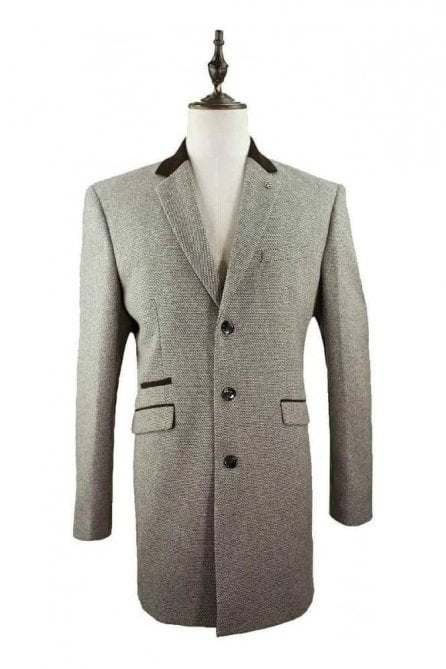 Cavani Lauren Tweed Tan Coat