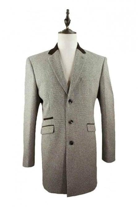 Cavani Lauren Tweed Tan Coat