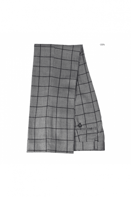 Macy Grey & Blue Check Suit Trousers