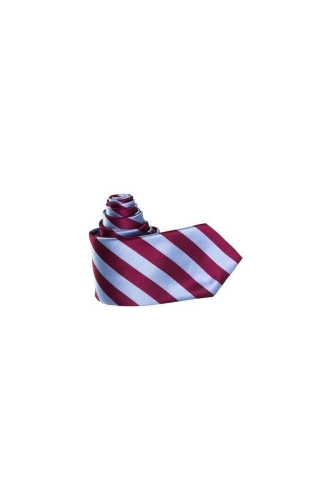 Jss mens burgundy blue striped silk tie jss from for Striped tie with striped shirt
