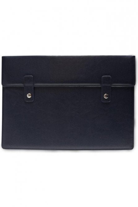 "Navy Blue & White Leather Macbook 13"" Air Case Sleeve"