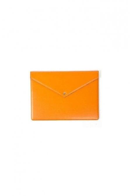 "Orange Leopard Leather Macbook 13"" Case Sleeve"