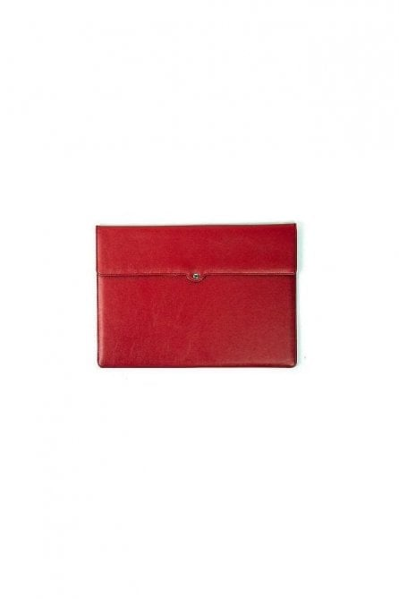 "Red Spot Leather Macbook 13"" Air Case Sleeve"