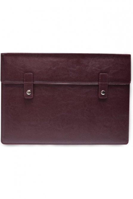 "Wine & white leather Macbook 13"" Air Pro Case"