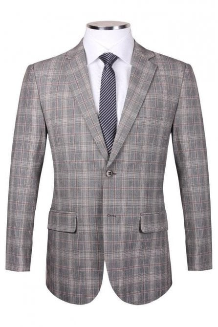 Mens Light brown tweed style check blazer jacket