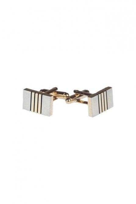 Classic Stainless Steel Silver Rectangular Cufflink
