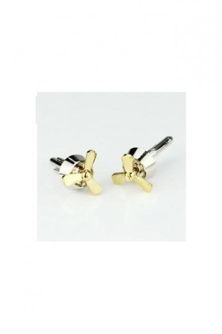 Fan Novelty Themed Mens Brass Steel Gift Wedding Cufflink
