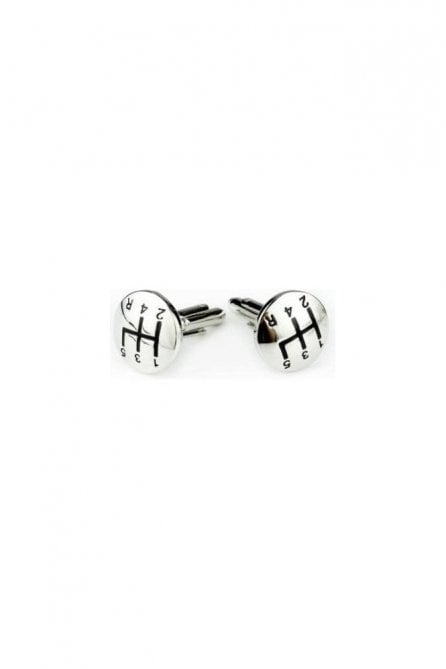 Gear Stick Novelty Themed Mens Brass Steel Gift Wedding Cufflink