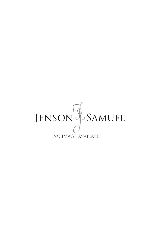 JSS Orange & Black Floral White Regular Fit 100% Cotton Shirt