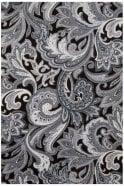 JSS Paisley Black & White Regular Fit 100% Cotton Shirt