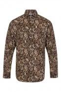 JSS Paisley Brown Regular Fit 100% Cotton Shirt