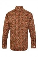 JSS Paisley Orange Regular Fit 100% Cotton Shirt