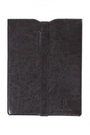Premium leather Ipad Case - Black White Floral