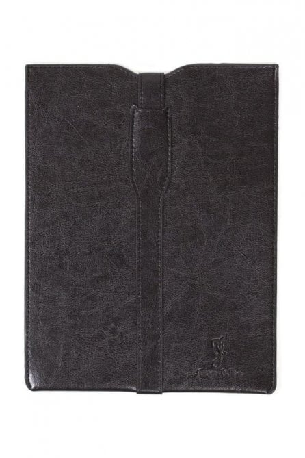 Premium leather Ipad Case - Black White Floral