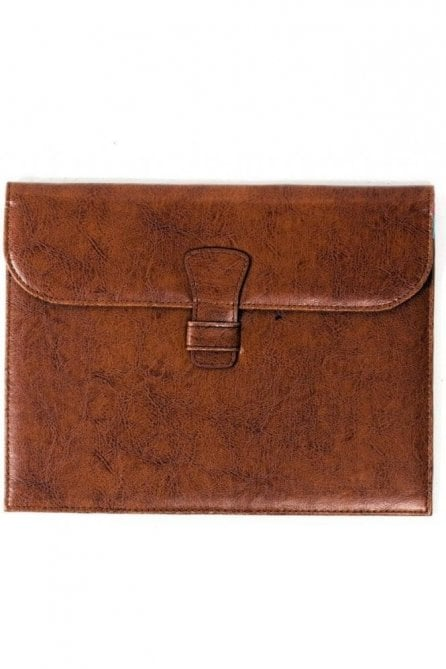 Premium leather Ipad Case - Brown floral