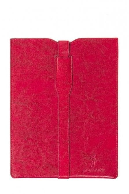 Premium leather Ipad Case - Red white floral