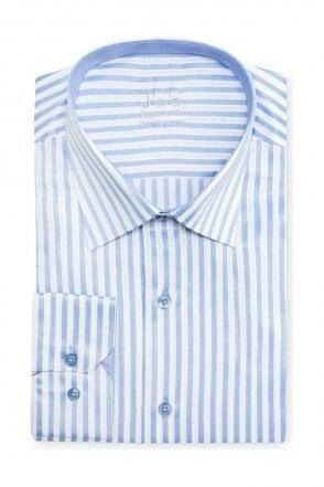 Striped Blue & White Regular Fit Shirt
