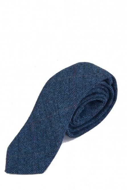 Marc Darcy dion blue Tweed Neck Tie