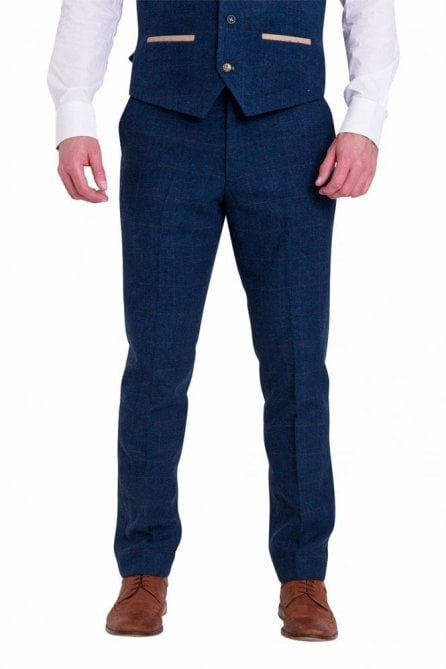 Marc Darcy Dion Blue Tweed Trousers