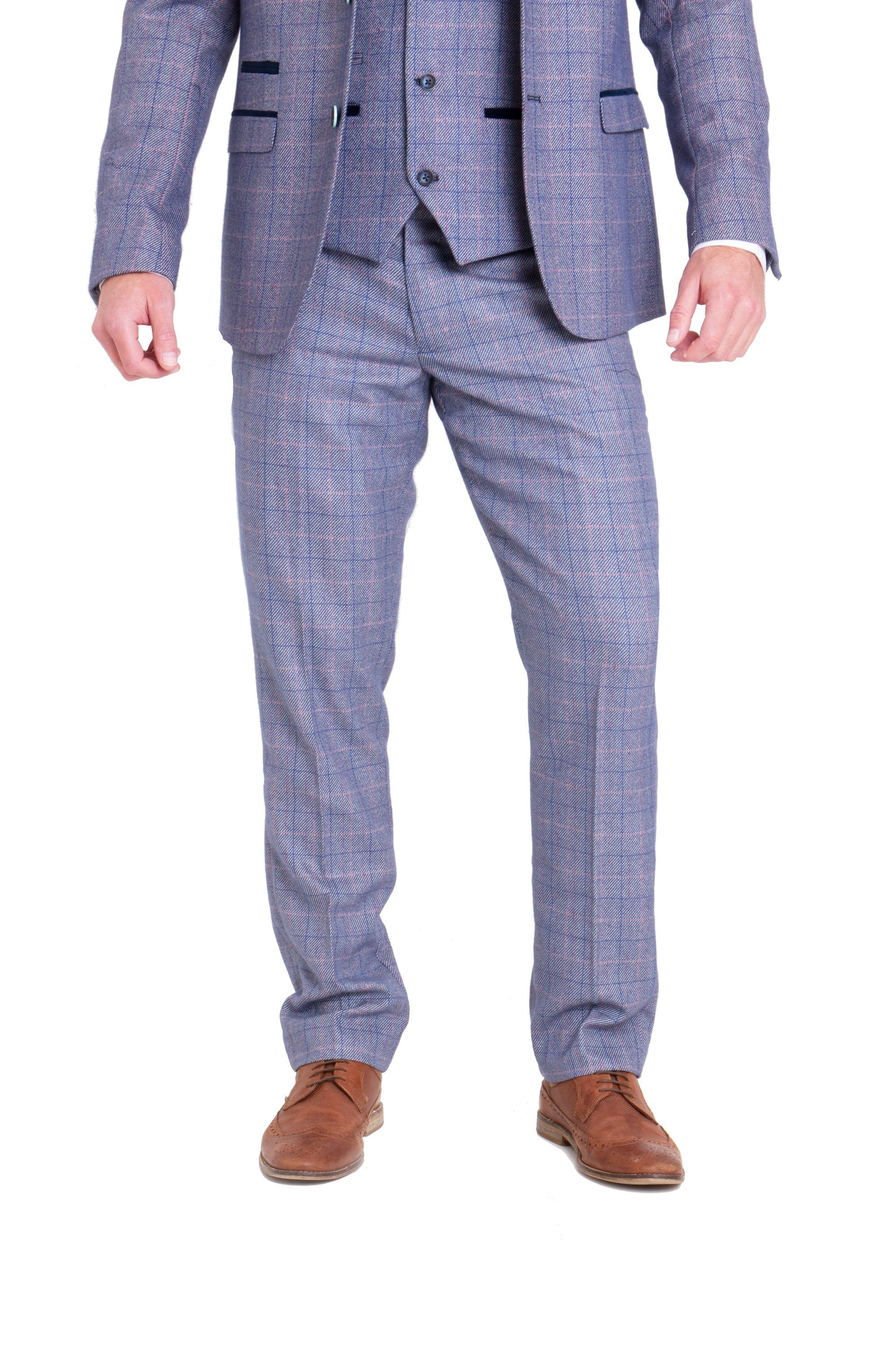 Marc Darcy Harry Blue Tweed Trousers 5223612472a6