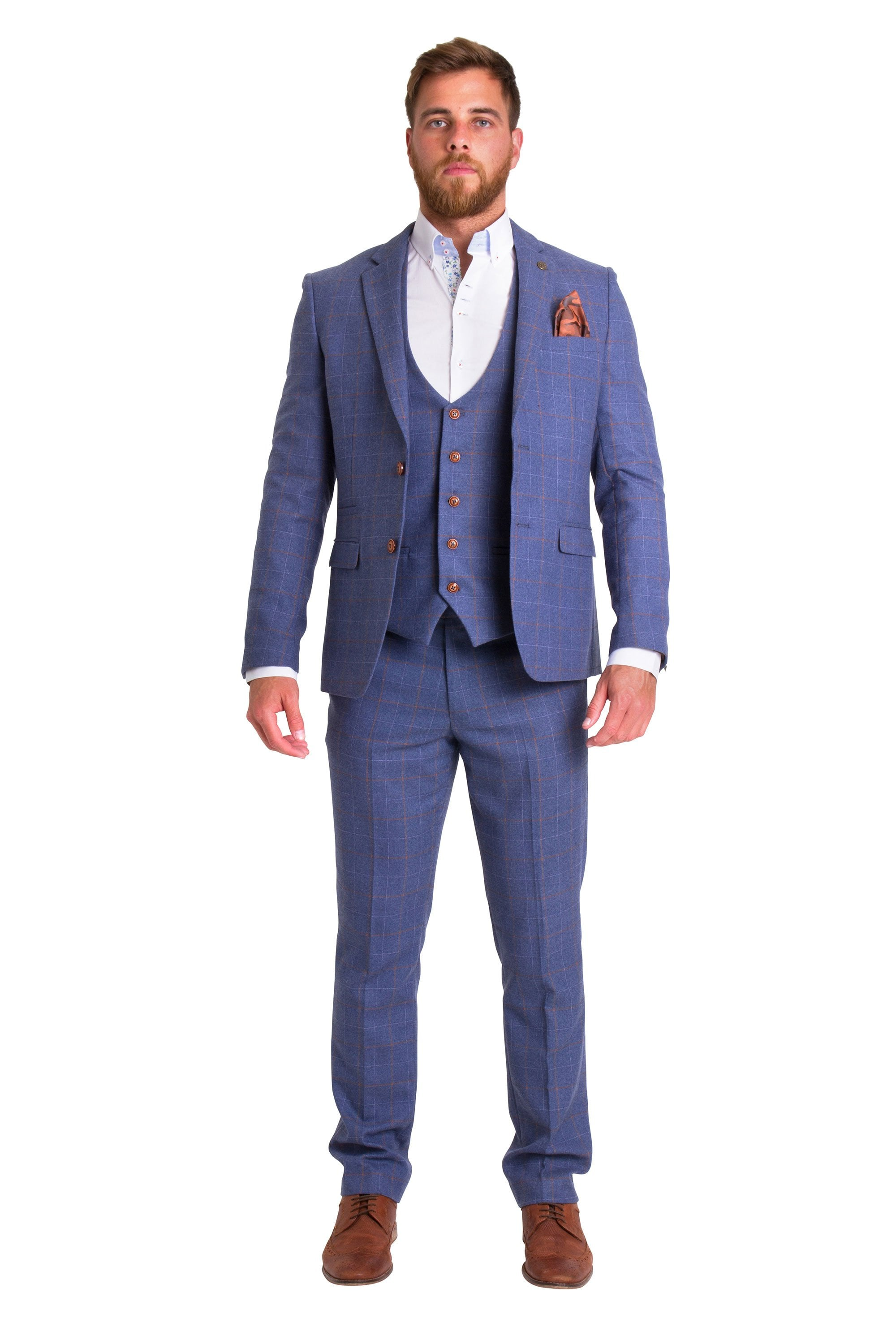 official store outlet buy Marc Darcy Marc Darcy Matthew Blue Tweed Blazer