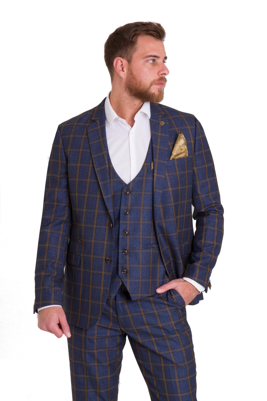dbe417d3e51b Roman Blue Check Suit Blazer